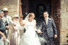 Brautpaar nach seiner Trauung in Italien
