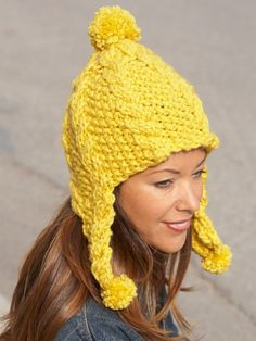 Golden Glow Earflap Hat: free pattern