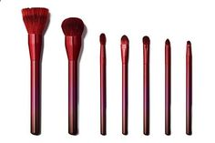 The Broke Girl's Guide To Fall Beauty #refinery29 www.refinery29.co... This seven-piece brush set has a bunch of different eyeshadow brushes, a multipurpose dual-fiber brush, and an amazing blending brush that I use for my base makeup. It's basically every single brush you'd ever need, in one convenient kit. And the brushes are absolutely gorgeous — I mean, look at 'em! — Mi-Anne ChanSonia Kashuk Ombré Obsessed Seven-Piece Brush Set, $25.99...