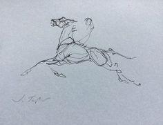 Horse Drawings, Animal Drawings, Art Drawings, Animal Sketches, Art Sketches, Horse Running Drawing, Horse Sketch, Graphic Illustration, Illustrations