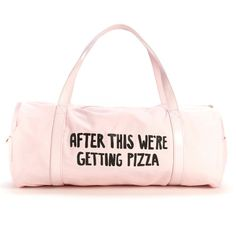 A gym bag that TOTALLY understands your priorities.