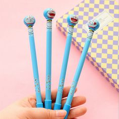 2.13$  Watch here - http://alizq7.shopchina.info/go.php?t=32796271303 - 4 Pcs / Pack Kawaii Gel Pen Writing Cute Duo A Dream Black Ink Signature Pen Korean Stationery Office Supplies 2.13$ #magazineonlinewebsite