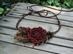 Hey, I found this really awesome Etsy listing at http://www.etsy.com/listing/155723392/deep-red-floral-crown-port-wine-rose
