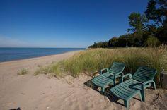 Lake Huron Lake Huron, Outdoor Furniture, Outdoor Decor, Beaches, Cottage, Park, Casa De Campo, Cottages, Parks