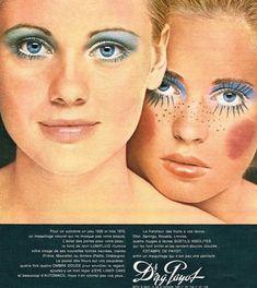 Anúncios vintage de maquiagem 1970s Makeup, Vintage Makeup Ads, Retro Makeup, Glam Makeup, Vintage Beauty, Vintage Ads, Eye Makeup, Vintage Fashion, Vintage Glamour