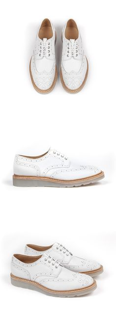 Heschung - Men spring summer collection - Derby Cox - Denver white leather and translucent trapper sole . #SS15 #exclusive #heschung