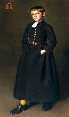 Portrait of Edward Logsdail (1896–1923), as a Christ's Hospital Scholar, 1904 by William Logsdail (British 1859–1944)......the artist's son (I guess) in school uniform....