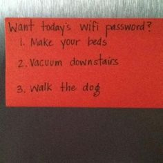 Great idea for children or teens who love the internet, but not chores.so clever!!