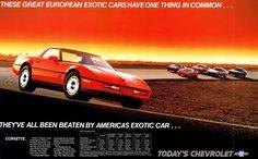 '85 Corvette ad