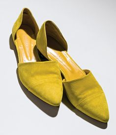 Suede d'orsay shoes, by Jenni Kayne
