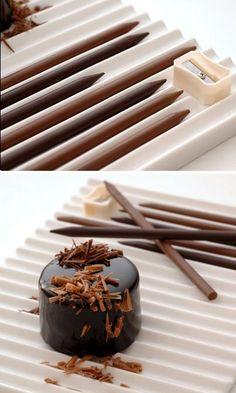 Chocolate pencils created by Japanese designers Nendo for Tokyo patissier Tsujiguchi Hironobu.