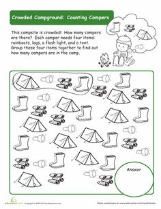 Camping On Pinterest Worksheets And Theme