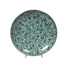 Antique Karakusa Bowl Green  by Miya
