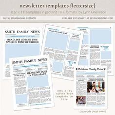 download free one and two page newsletter template for microsoft