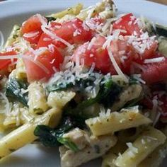 """Pesto Chicken Florentine 