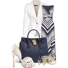 A fashion look from January 2013 featuring Plein Sud Jeanius blazers, Badgley Mischka pumps and MICHAEL Michael Kors tote bags. Browse and shop related looks.