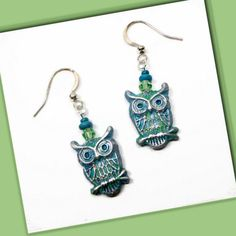 Mini Owl Earrings Polymer Clay Earrings Dangle by BeadazzleMe Christmas is coming #fashion #jewelry