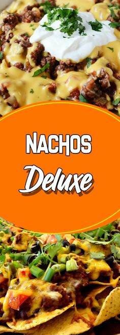 Nachos Deluxe Via #yummymommiesnet #comfortfood comfort food recipes #sugarfree sugar free recipes #cookinglight cooking light recipes #recipe recipe #cleaneatingrecipes clean eating recipes #veganrecipes vegan recipes