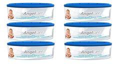 Angelcare 2770 - Recambio para contenedor de pañales (pack de 6 unidades)