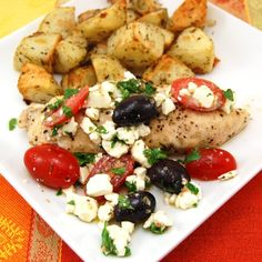 Greek Salsa Chicken by sweetpeaskitchen #Chicken #Greek #sweetpeaskitchen
