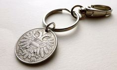 Keychain Austrian Coin keychain Coins Charms Men's by CoinStories