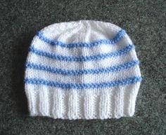 Garter Ridge Baby Hat | AllFreeKnitting.com