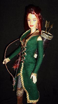 Tauriel The Hobbit Elf Lord of Rings Character Barbie Doll OOAK Dakotas Song   eBay