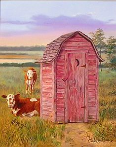 """""""Good Company"""" - Country Outhouse"""