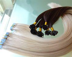 Tape Extensions oder Bonding Extensions Bonding Extensions, Tape In Extensions, Hair Styles, Beauty, Instagram, Short Hair Up, Oder, Hair Plait Styles, Hair Makeup