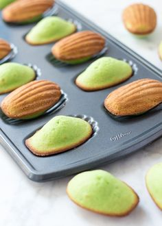Last week I revisited my love for Ube with my Baked Ube Coconut Doughnuts, and now I'm introducing you to another flavor I love:Pandan! These Pandan Madeleines are rich, buttery, and absolutely delicious! They're a Southeast Asian twist on a French classic and I'm betting you're going to love them. For those of you who've