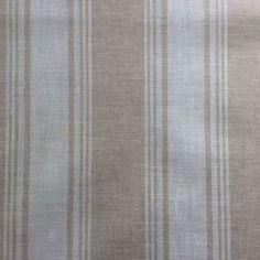 Damblair striped linen oilcloth in Natural