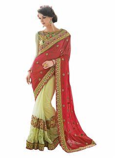 Partywear Sari Indian Designer Wedding Pakistani Bollywood Saree Ethnic Dress  #KriyaCreation #SariSaree