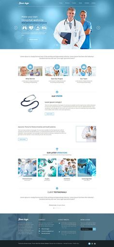 free template psd (hospital / medical website) on Behance
