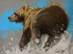 Aaron Blaise - Aaron Blaise ha añadido 2 new photos. Bear Paintings, Wildlife Paintings, Wildlife Art, Cartoon Drawings, Animal Drawings, Drawing Animals, Dinosaur Drawing, Bear Art, Unique Animals