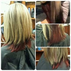 Blonde red and brown