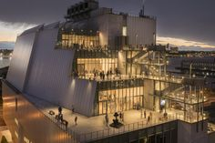 The Whitney - open late on Friday and Saturday Visitors in the galleries at night  Whitney Museum of American Art 99 Gansevoort Street New York, NY 10014 (212) 570-3600