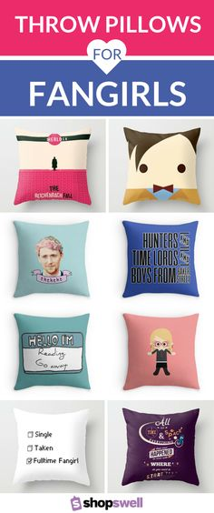 If you're a fangirl at heart you get how awesome these throw pillows really are. Sleep tight with your favorite crush tonight. Hey, a girl can dream, right?