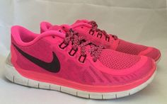 Nike Free 5 0 Pink Sneakers Tennis Shoes Girls Size 5Y 5 Youth $105 Retail | eBay $35.00