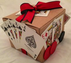 Poker Gift Wrap ... thats how I will wrap my present to give, within the the birthday theme.