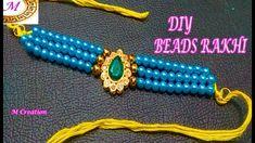 DIY Rakhi/how to make beads rakhi Rakhi Making, Rakhi Design, How To Make Beads, Beaded Bracelets, Diy, Dolls, Beautiful, Jewelry, People
