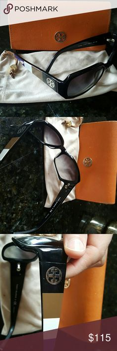 Tory burch sunglasses and accessories Great glasses in great condition! Includes case and dusting cloth/bag. Lenses have no scratches. Tory Burch Accessories Glasses