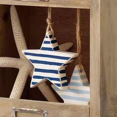 Star Decoration   Plain, Spotty Or Striped