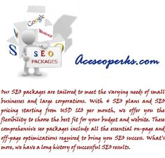 AceSeoPerks is an SEO service provider exhibiting best expertise in this field of internet marketing. Our company believes in providing best SEO services and is very firm in accomplishing the targeted work at a cost efficient rate.We imply our ethical strategies to stimulate high volume traffic towards your website.Our team consists of Managing Director and team of SEO Optimizer/Project Manager/ Social Media Optimizer/Content Writer.(www.aceseoperks.com)