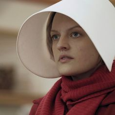 """The Hulu adaptation of """"The Handmaid's Tale"""" makes everything blunter and more explicit, almost pulpy at times. Some of its smartest moments—like Ofglen's story—are radical edits from the book, turning a passive plot active, Emily Nussbaum writes. Click the link in our bio to read her full review. Photograph by George Kraychyk/Hulu. #TheHandmaidsTale"""