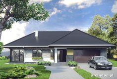 Projekt domu Tymoteusz G2 - przestronny dom parterowy, z 4 pokojami i garażem dwustanowiskowym ceramika - Archeton.pl