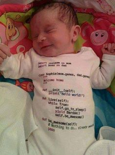 sleep a programmer baby awesome- the9gag.com