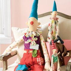 Birthday clowns. @Alison Faulkner can't The Little Tiny figure something out like this for me?