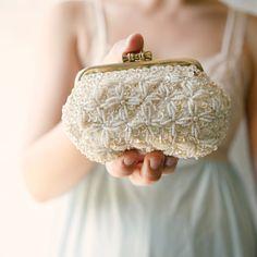 Sweet little vintage beaded purse. $30.00, via Etsy.