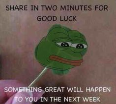 Only sharing for Pepe, and I really need something good to happen
