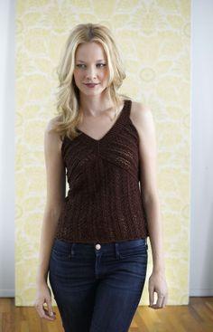 Free Knitting Pattern: Shimmer Lace Top. I want to become good enough to knit something like this!!!!